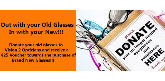 We need your old glasses !